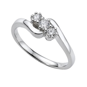 Picture of Three Stone Solitaire Ring - Variant 2