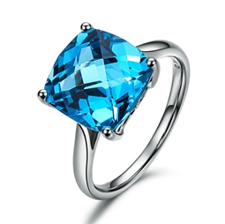 Picture of Gemstone Blue Ring