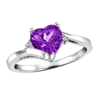 Picture of Designer Heart-shaped Gemstone Ring