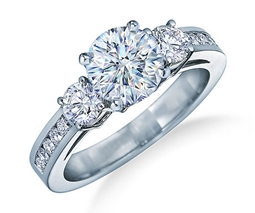 Picture of Three Stone Sparkling Ring