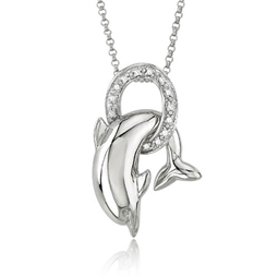 Picture of Dolphin Diamond Necklace